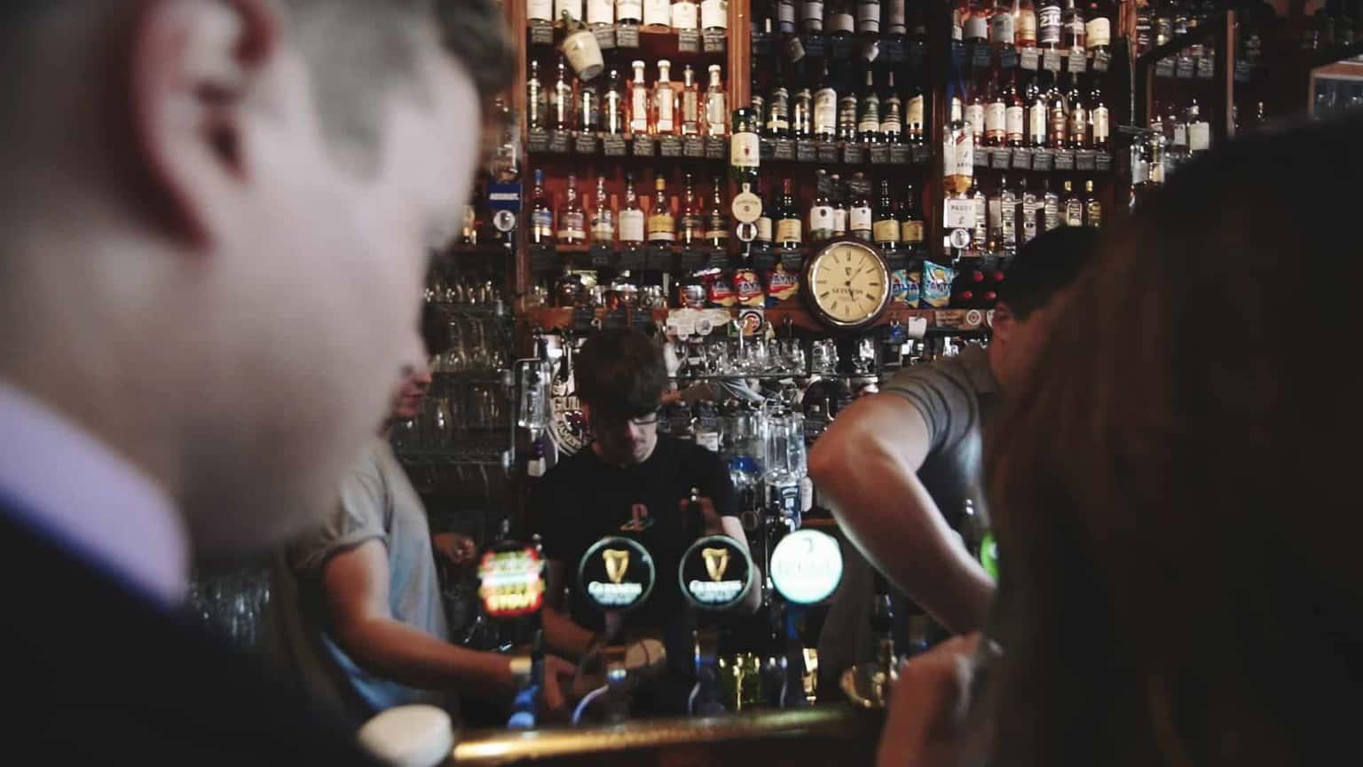 close look at bar and drinks in Dick Macks