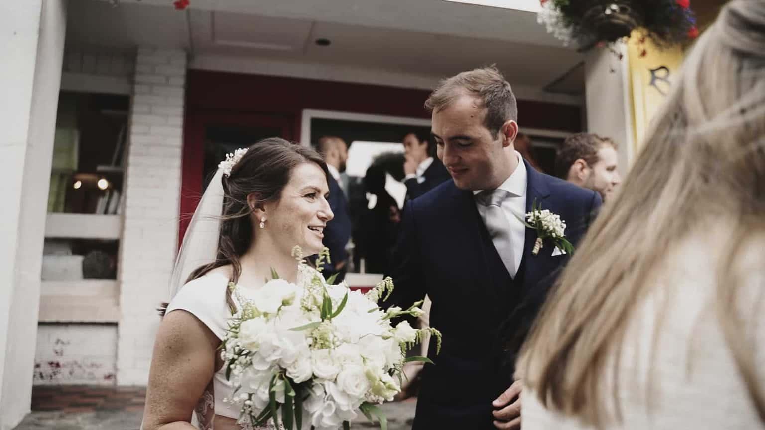 Bride and Groom in Dick Macks