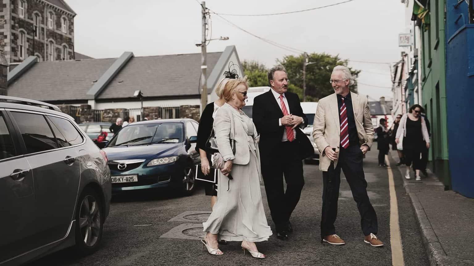 wedding guest arriving to Dick Macks