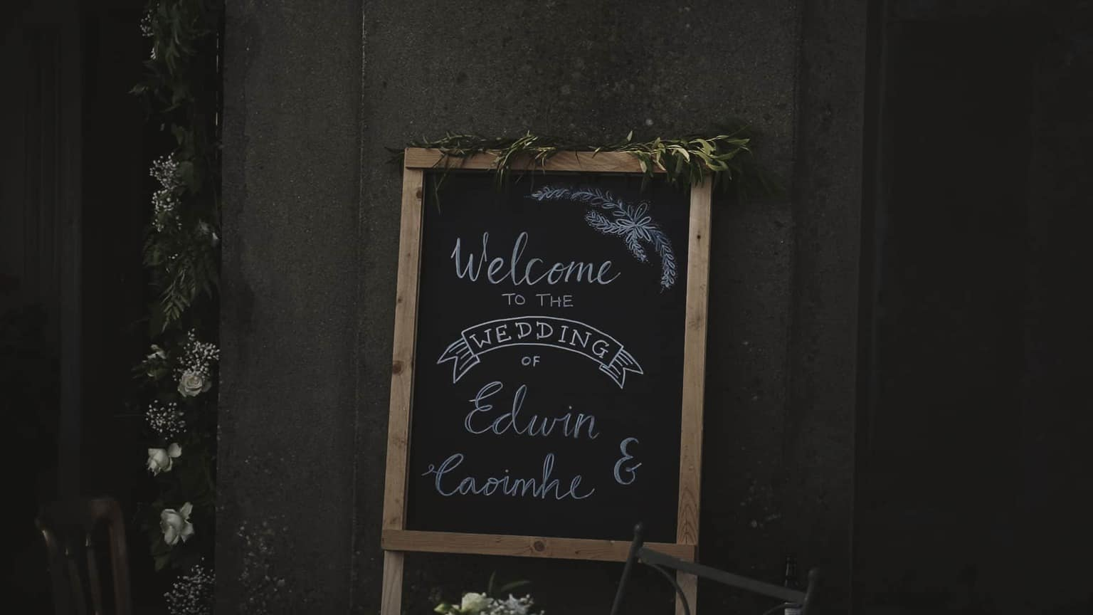 wedding welcome board.