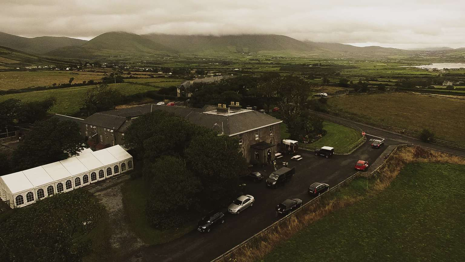 Ballintaggart house aerial view.