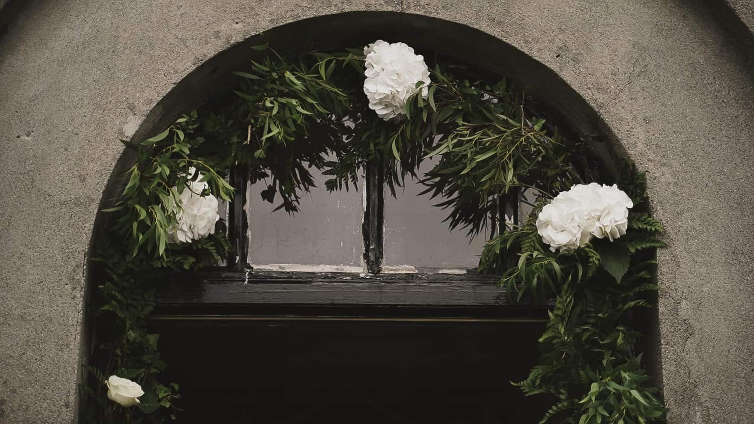 flowers visible at main door