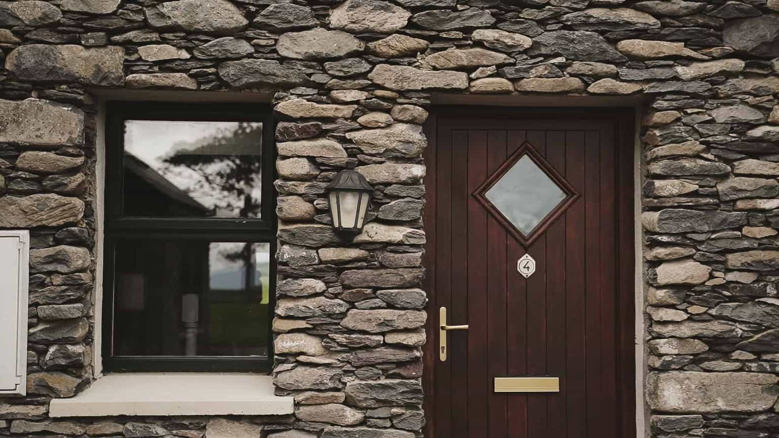 cord yard entrance door to grooms room