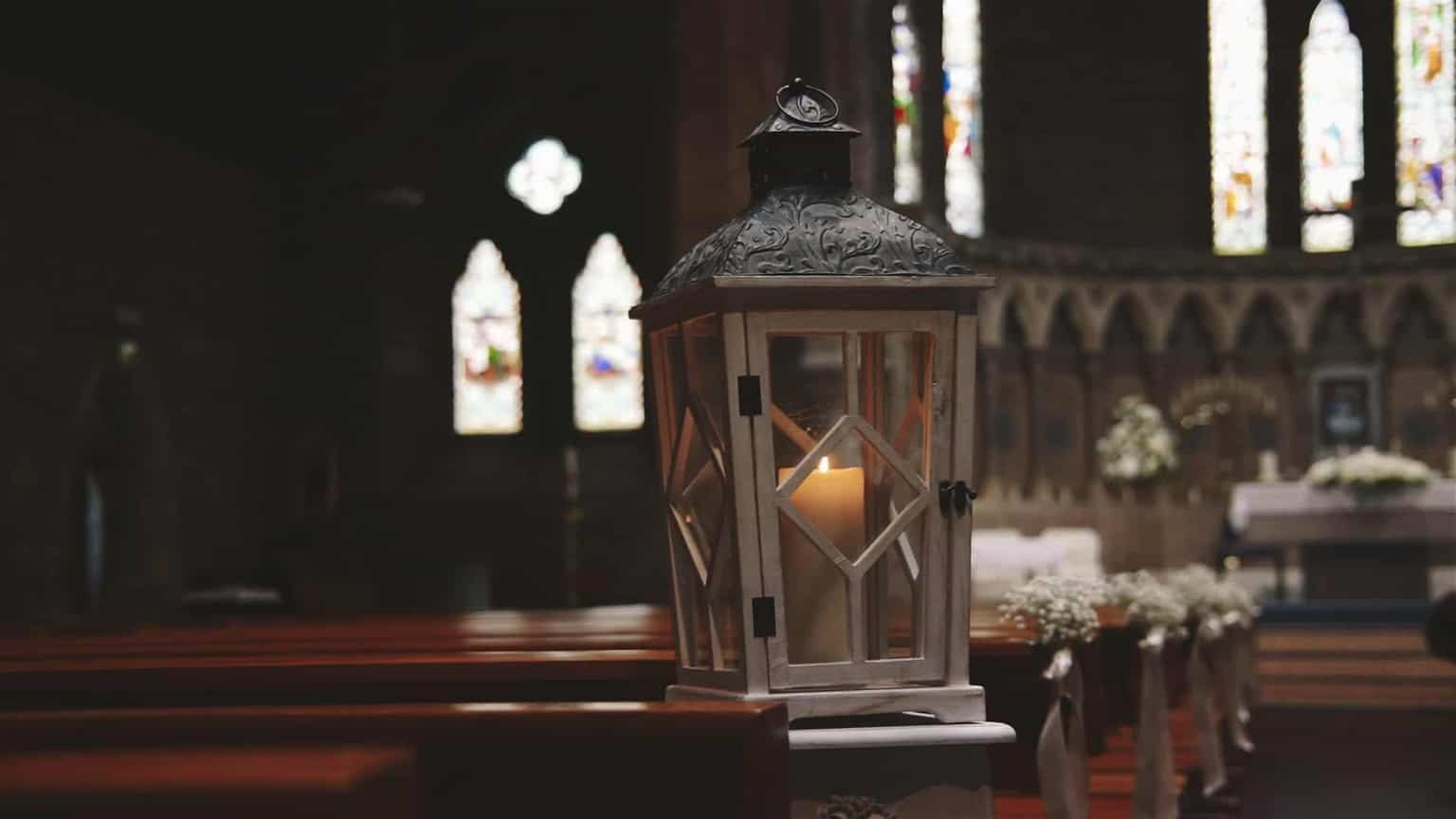 Lantern on way in to altar.