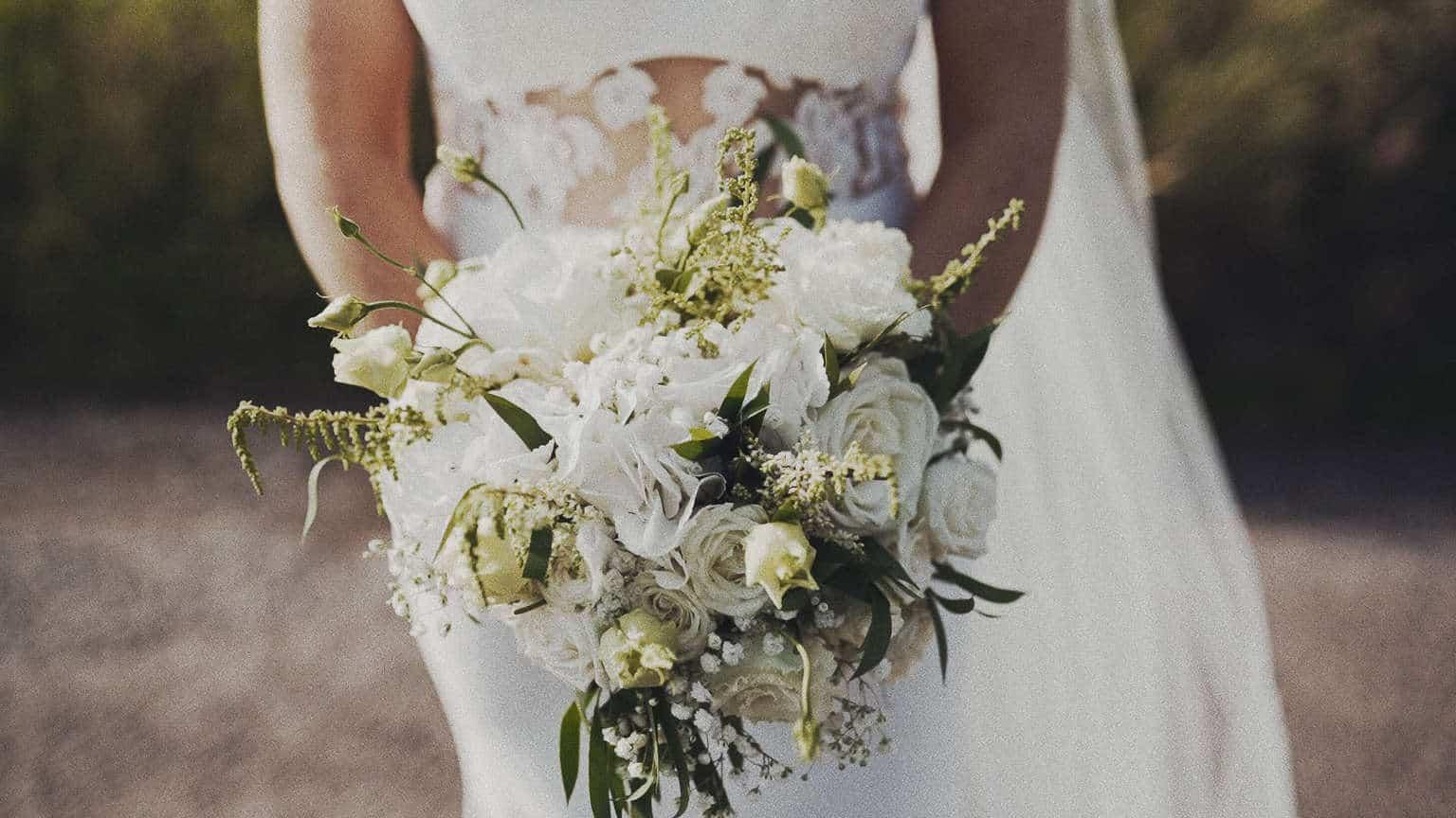 wedding bouquet close up