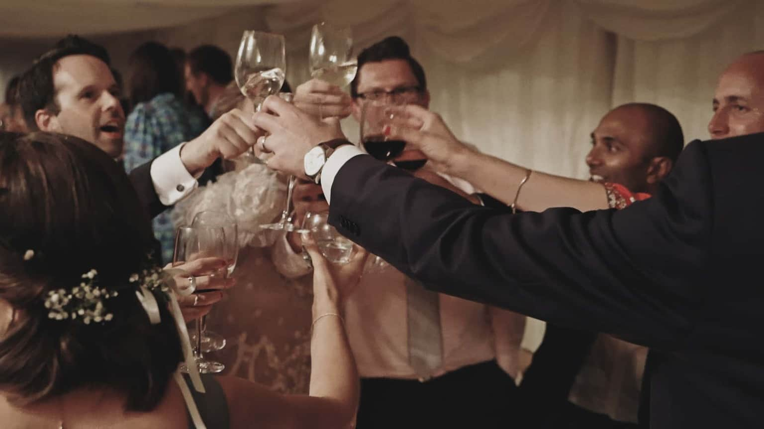 Toast after groom speech