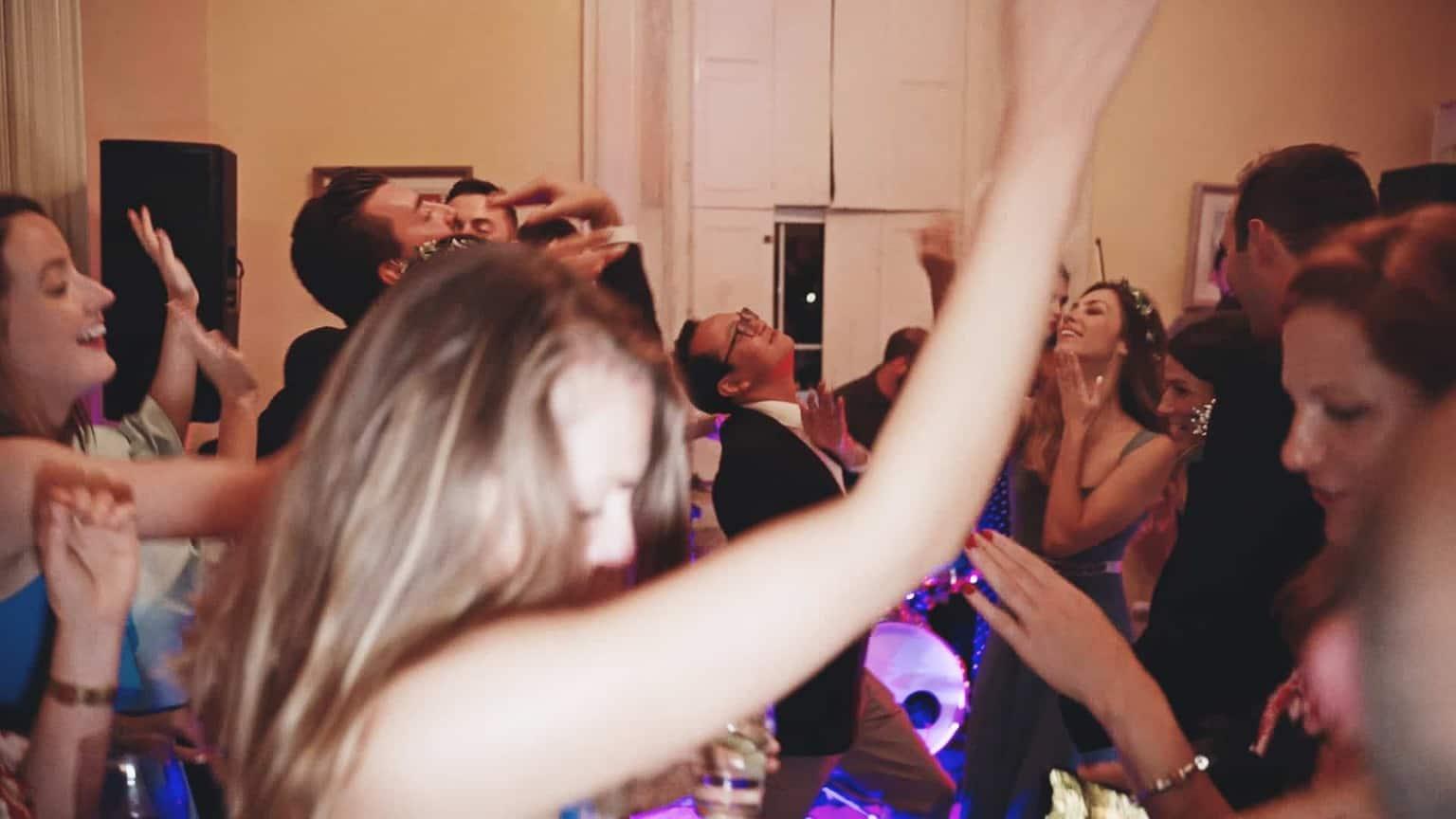 Dancing on dance floor