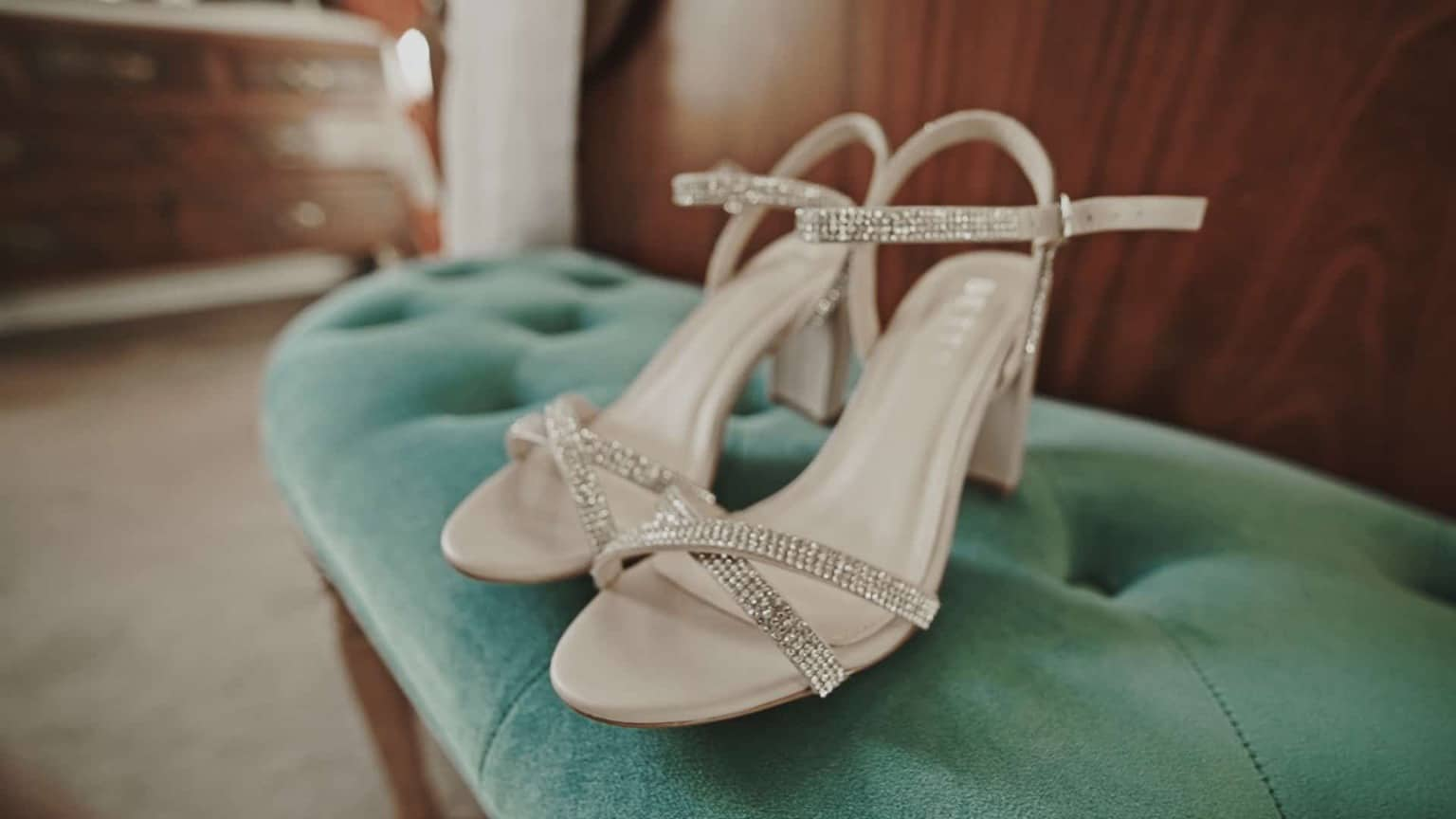 shoes in bridal suite