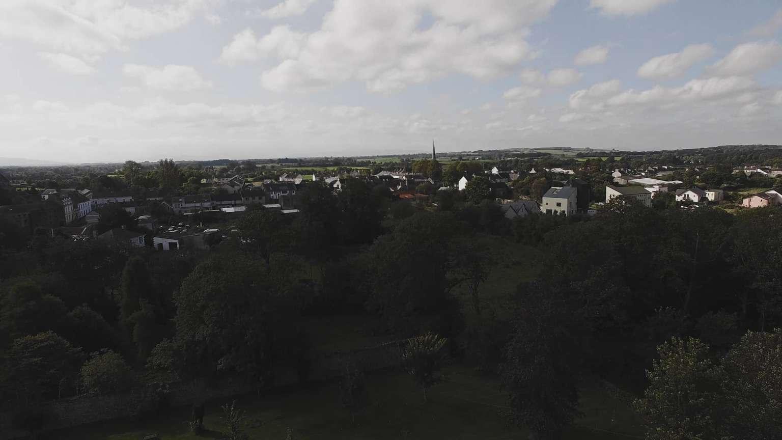 view for Saint Michael's and Saint John's Catholic Church from cloughjordan