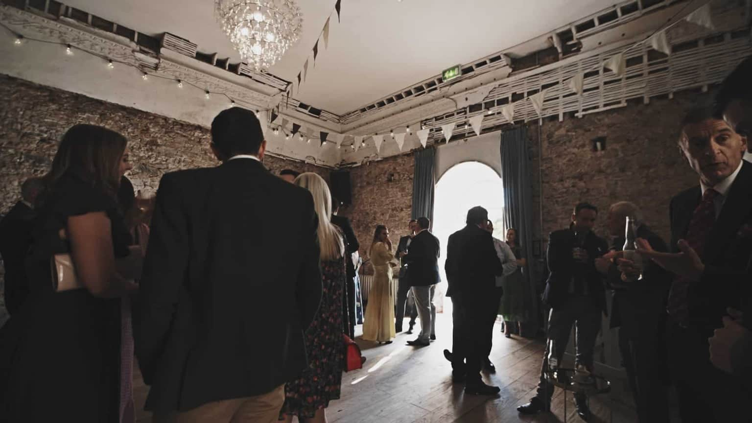 drink reception inside of Cloughjordan main house