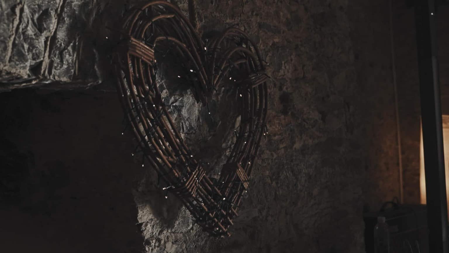 heart decoration hanging on the wall