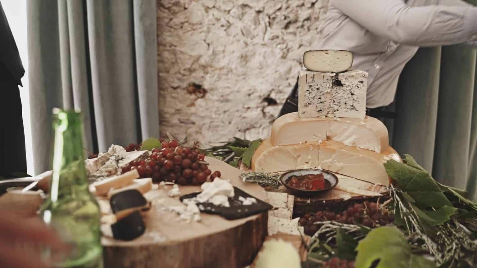 cheese cake on wedding