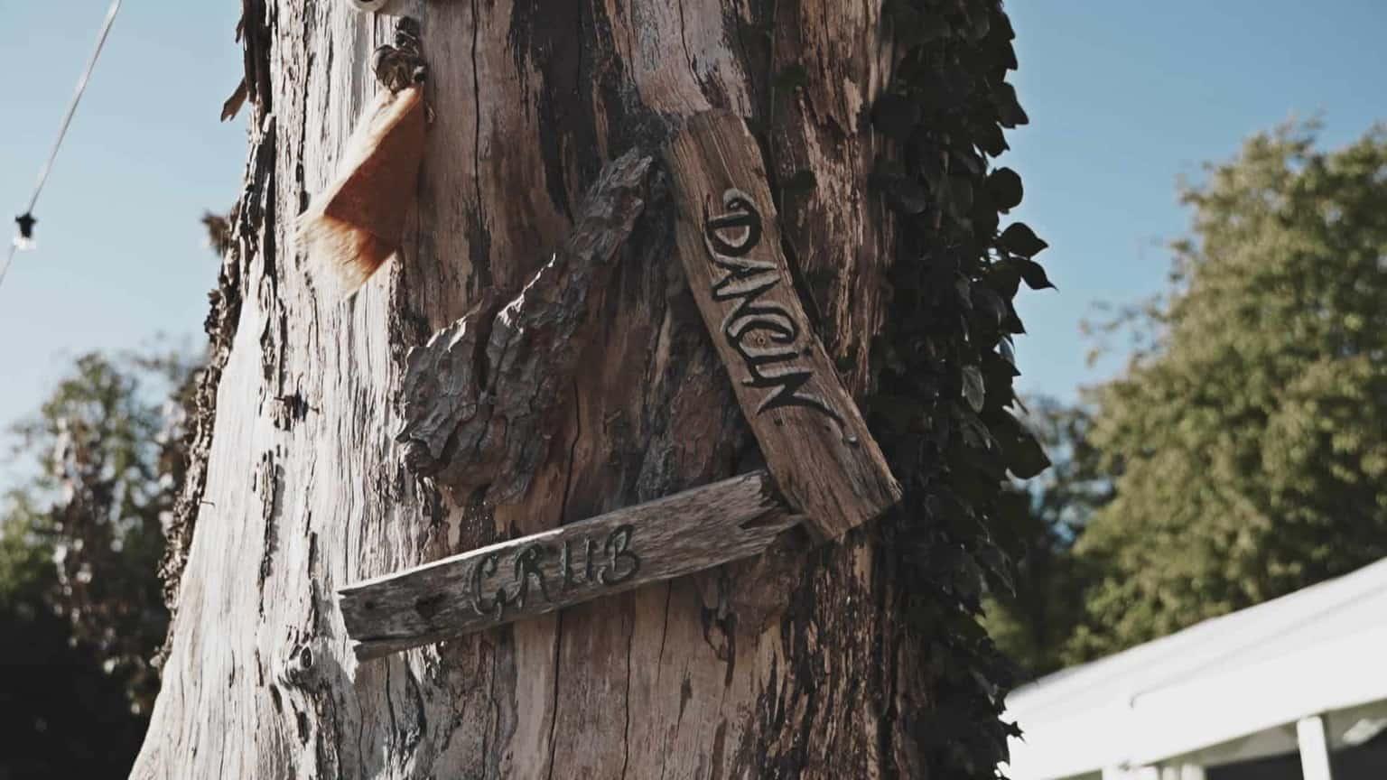 dancing signpost
