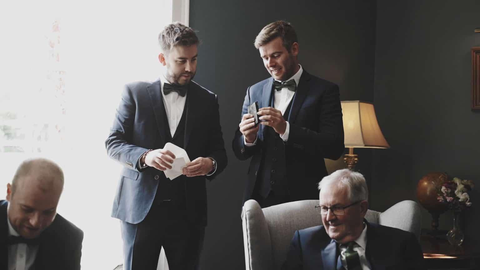 best men are waching wedding rings
