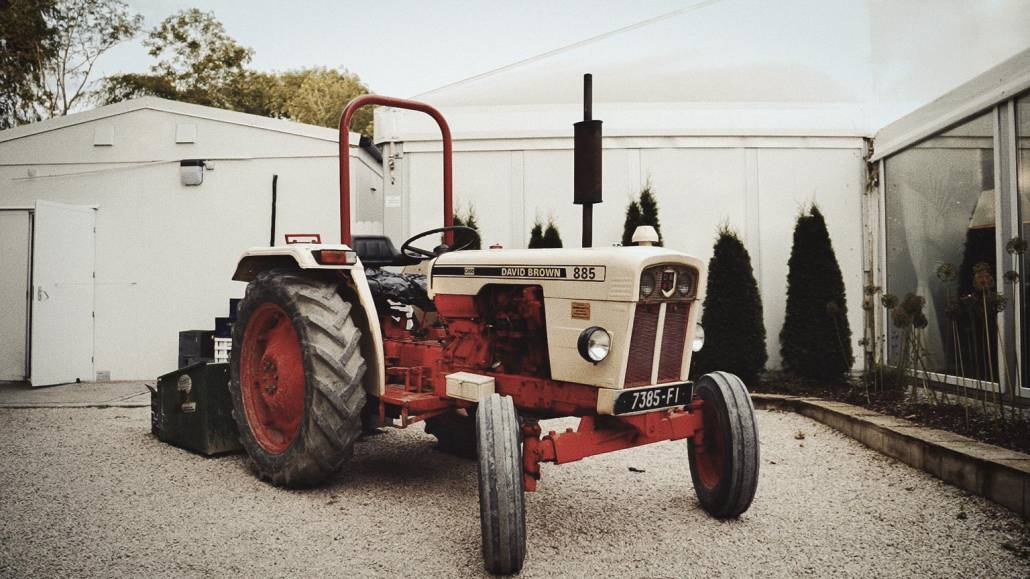 tractor parked in venue