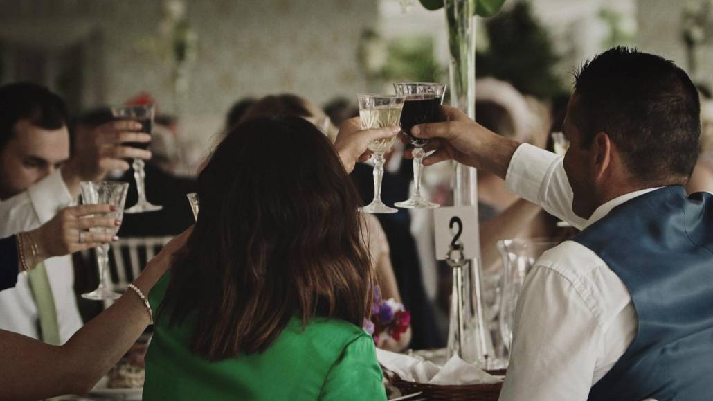 Toast during wedding day