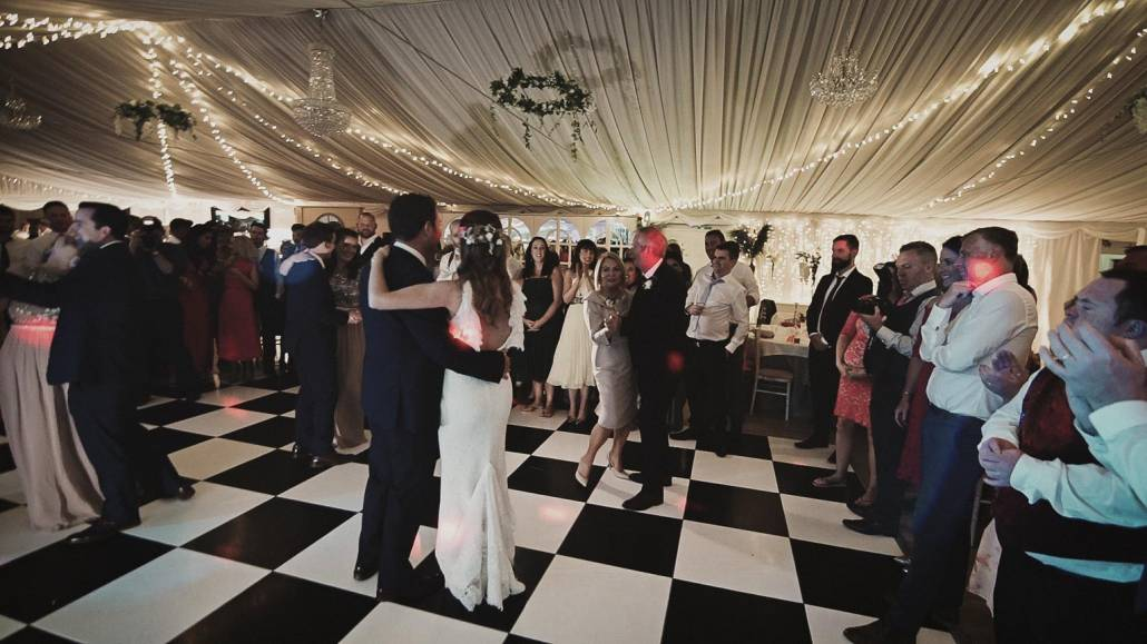 people watching first dance taken in ashley marque