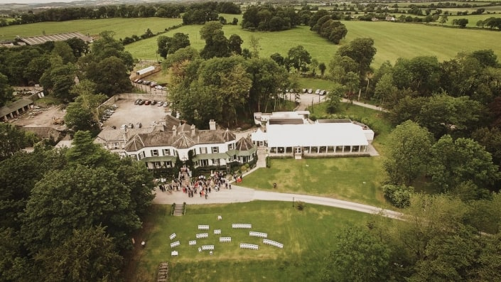 Wedding venue areal view on ashley park