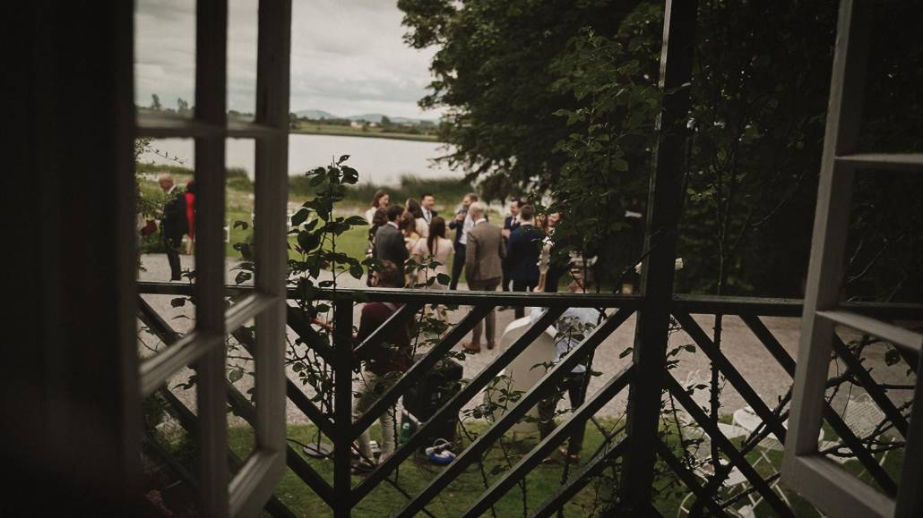View at lake from window in main house