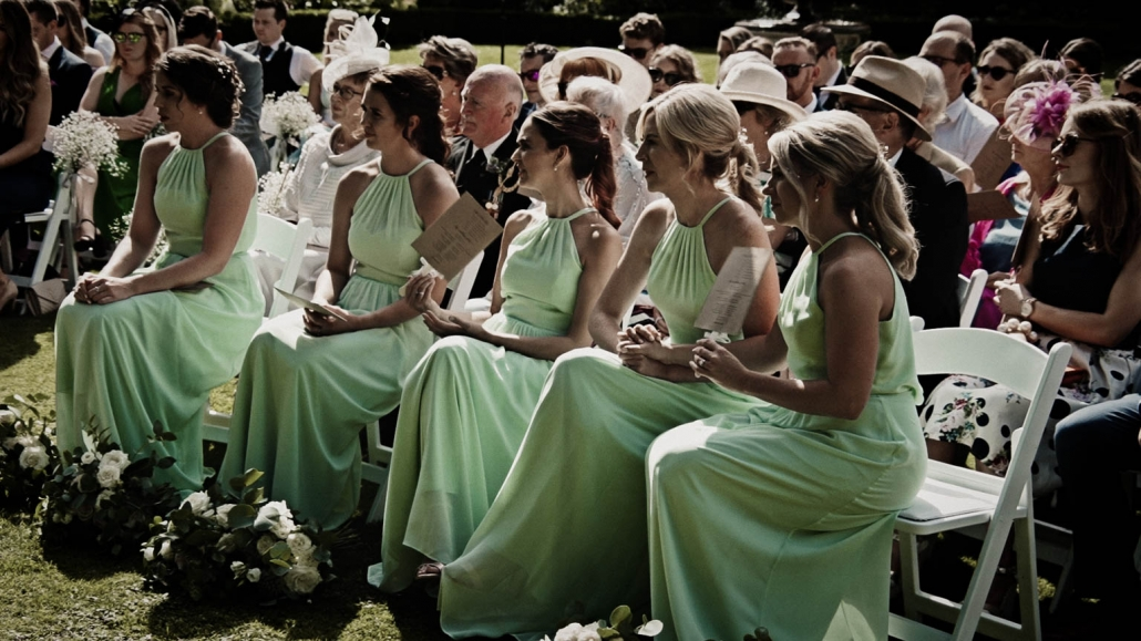 Bridesmaids listening the readings