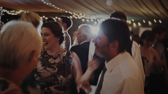 happy couple on the dance floor