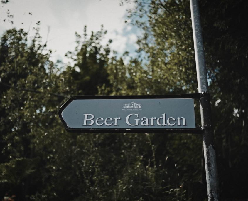 Beer garden sing