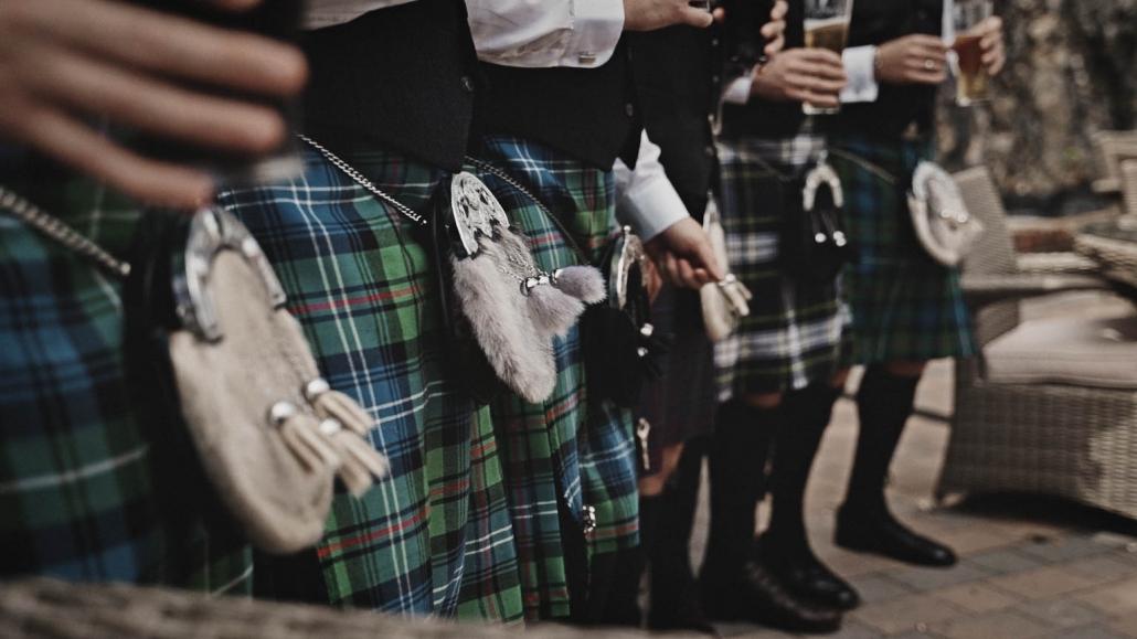 Scottish wedding kilt