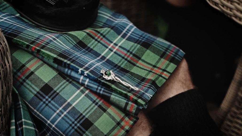 Scottish kilt pin