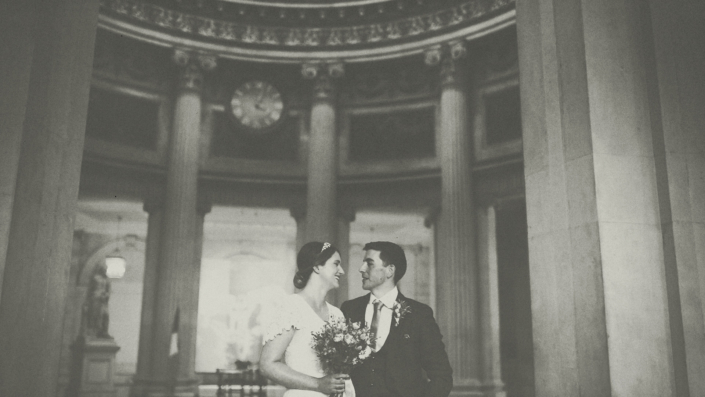 wedding photo session in city hall