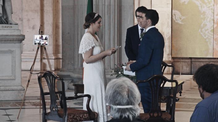 wedding ceremony in city hall