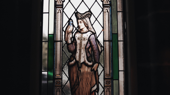stained glass with princes