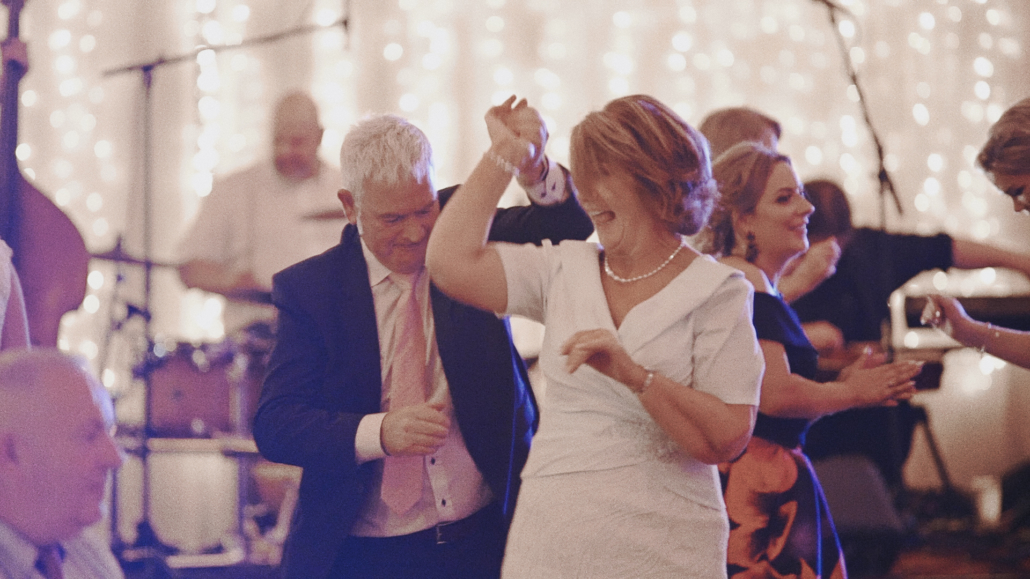 Dancing at wedding party.