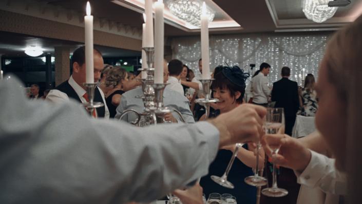 Making wedding toast