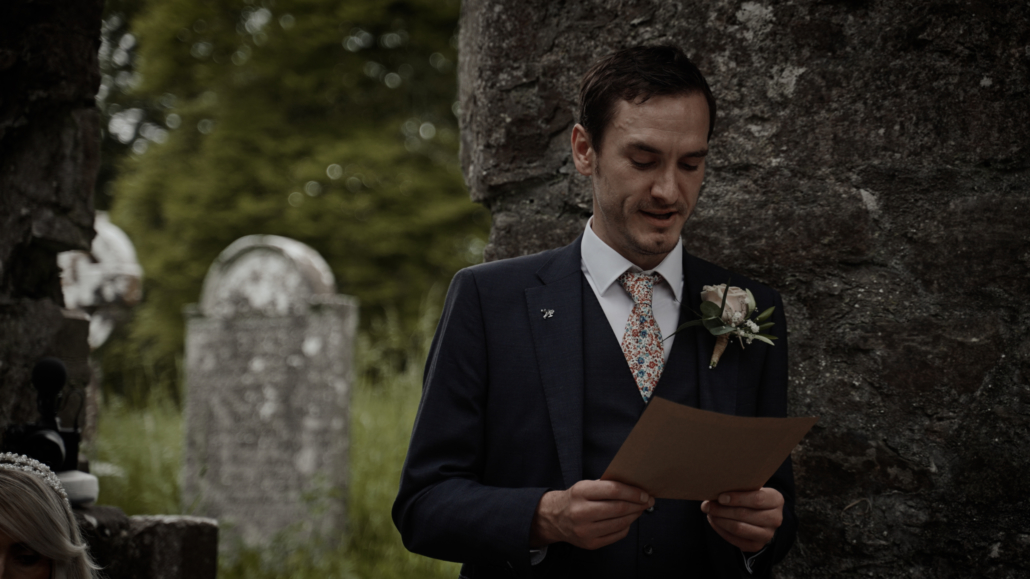 best man reading poem