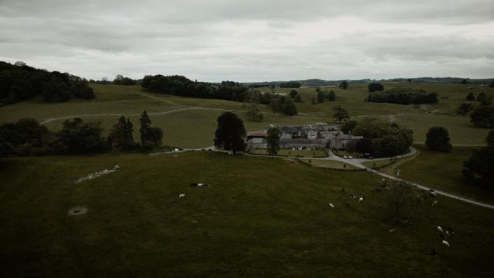 Loughcrew estate aerial view