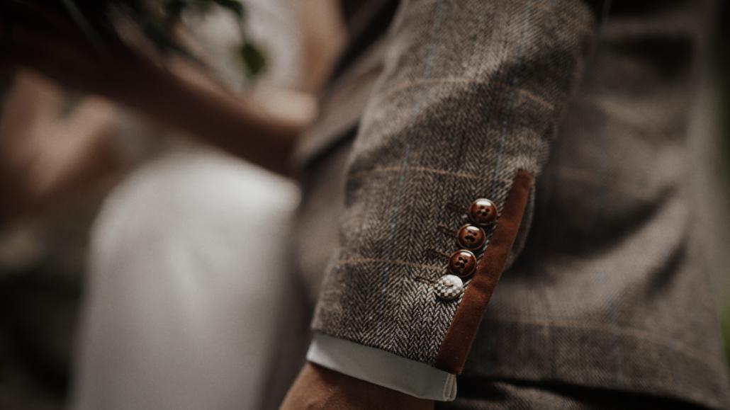 wedding suit detail