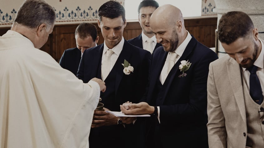 best man with rings