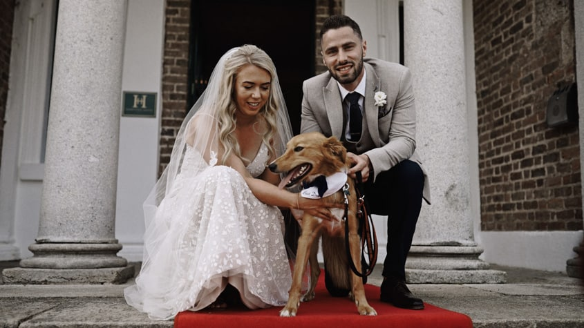 Aine and Aodhan with dog