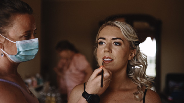 Aoife getting ready