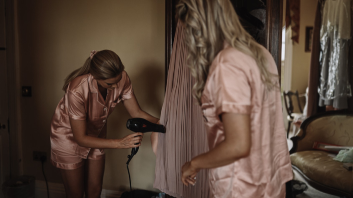 ironing bridesmaids dresses